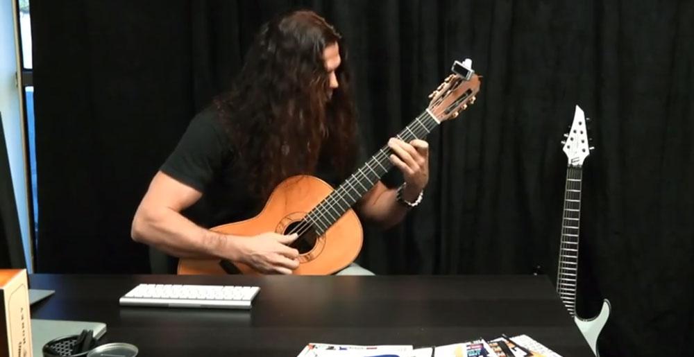Megadeth guitarist Chris Broderick playing Classical Guitar